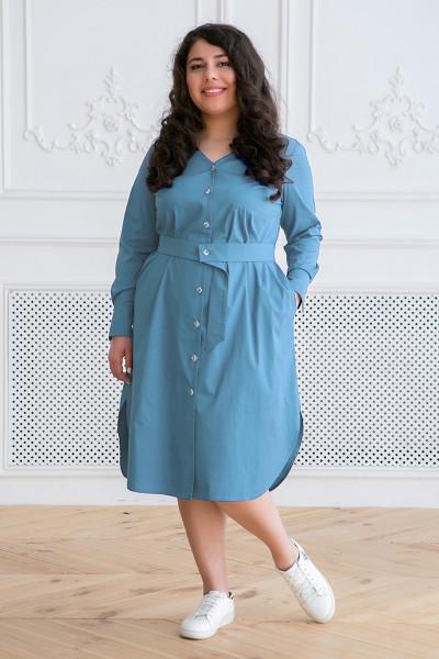 Сукня-сорочка «Тесса» сіро-блакитного кольору