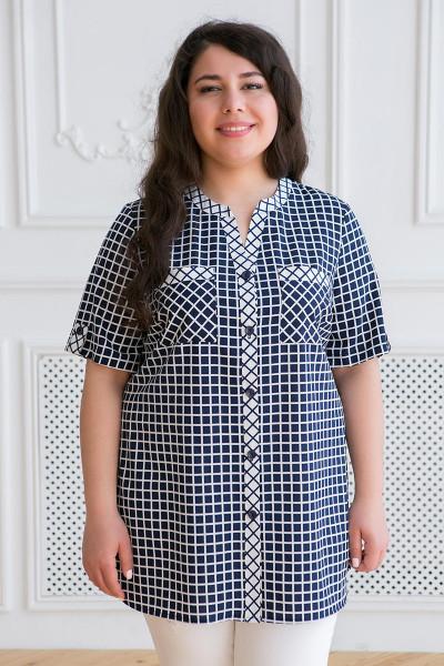 Сорочка «Арміна» темно-синього кольору