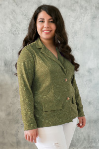 Жакет «Дженні» оливкового кольору