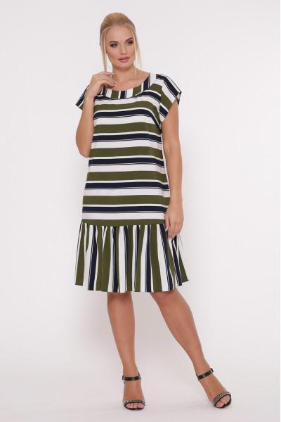 Сукня «Яна» оливкового кольору