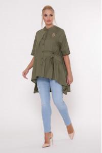 Блуза «Уля» оливкового цвета