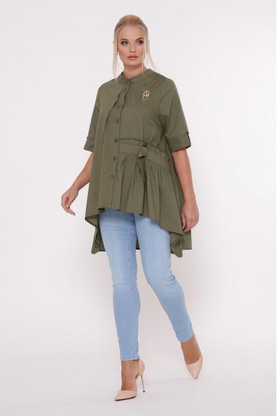 Блуза «Уля» оливкового кольору