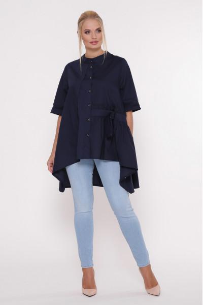 Блуза «Уля» темно-синього кольору