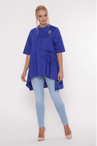 Блуза «Уля» ярко-синего цвета