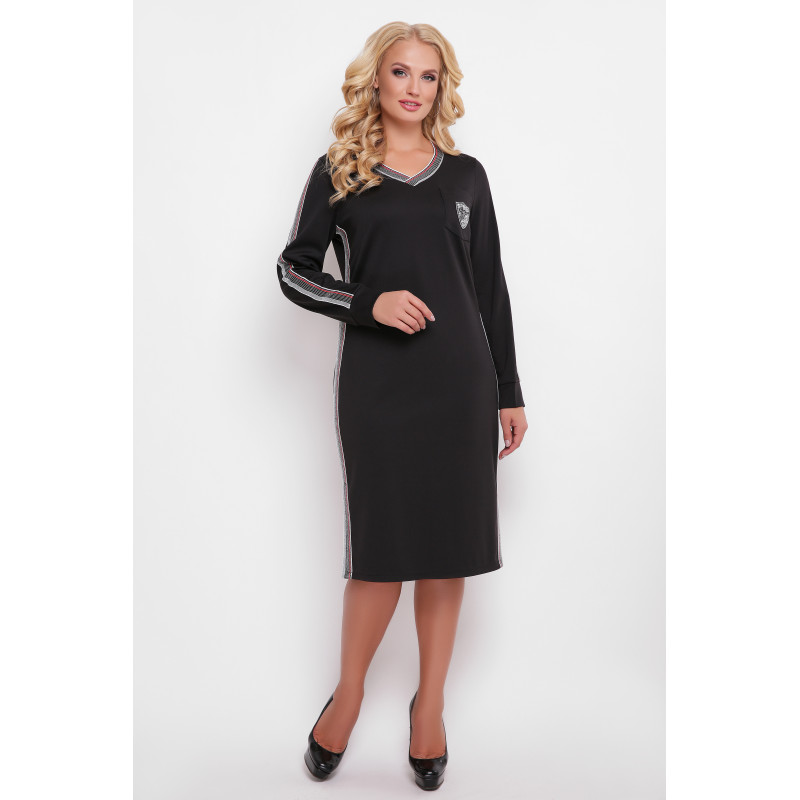 Сукня «Віталіна» чорного кольору – купити в Києві e8d9ab1dfb9d9