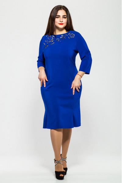 Сукня «Анюта» кольору електрик