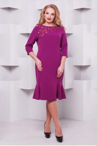 Платье «Анюта» сиреневого цвета