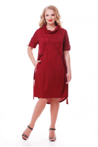 Платье «Берта» бордового цвета