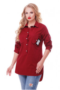 Блуза «Стиль» бордового цвета