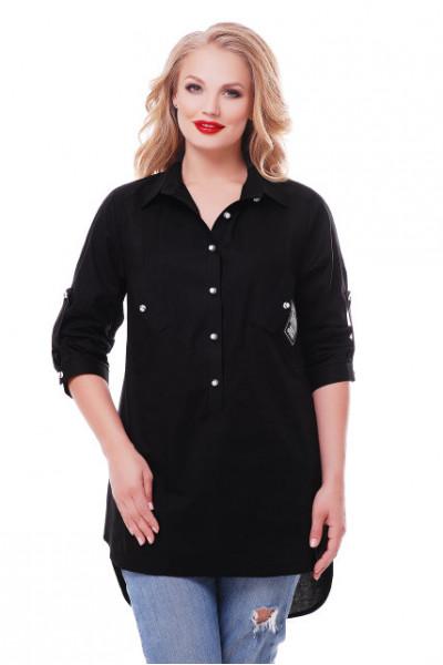 Блуза «Стиль» чорного кольору