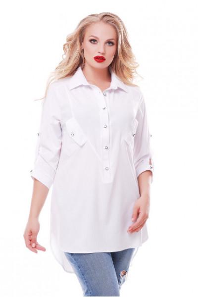 Блуза «Стиль» білого кольору