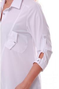 Блуза «Стиль» белого цвета
