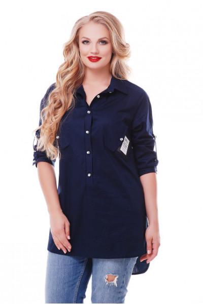 Блуза «Стиль» синього кольору