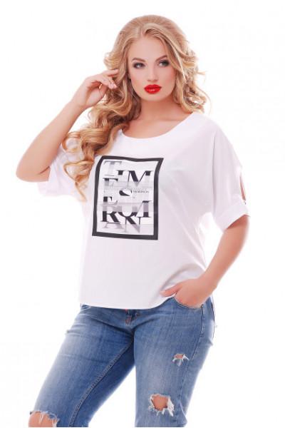 Блуза «Тамілла» з газетним принтом