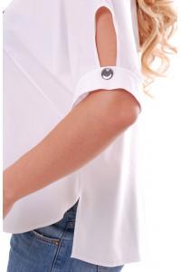 Блуза «Тамилла» с газетным принтом