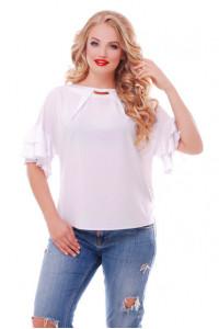 Блуза «Анастасия» белого цвета