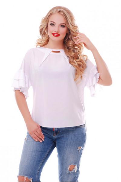 Блуза «Анастасія» білого кольору