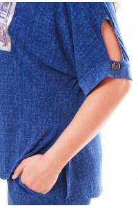 Брючний костюм «Денім» синього кольору