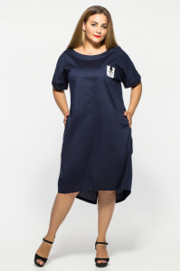Платье «Бриджит» синего цвета