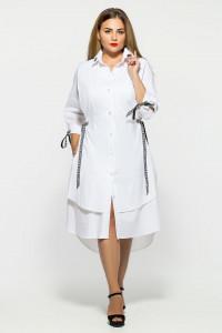 Платье «Евгения» белого цвета