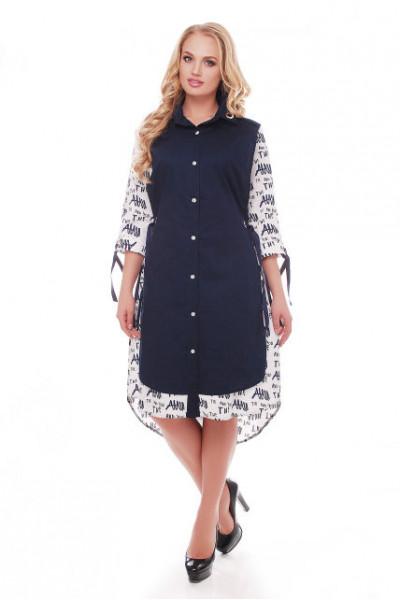 Сукня «Євгенія» синя з принтом