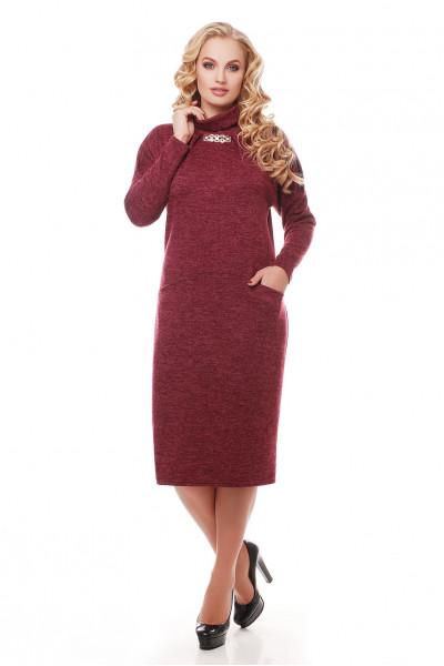 Сукня «Аліса» кольору марсала