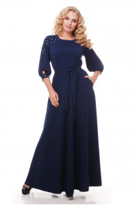 Платье «Вивьен» темно-синего цвета