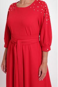 Платье «Вивьен» красного цвета
