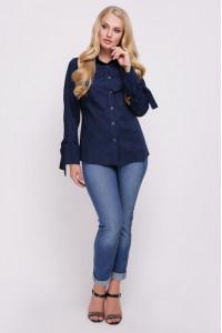 Блуза «Агата» синего цвета