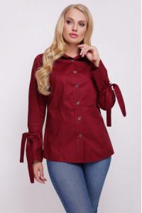 Блуза «Агата» бордового цвета