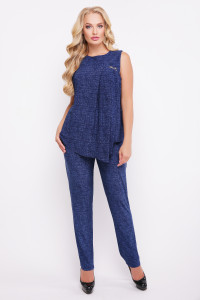 Літній костюм-двійка «Хельга» кольору джинс
