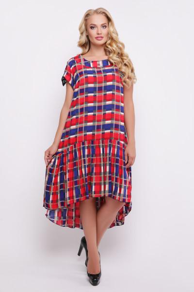 Сукня «Герда» в червоно-синю смужку