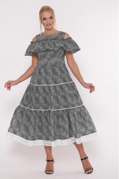 Сукня «Таяна» з принтом-горошинами