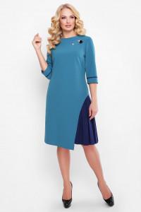 Платье «Ванда» бирюзового цвета