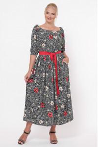 Платье «Снежанна» с маками