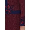 Сукня «Донна» бордового кольору з кружечками