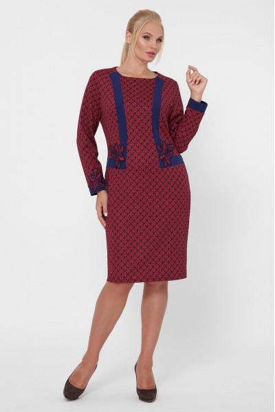 Сукня «Донна» бордового кольору з зірками