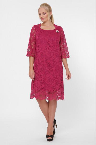 Сукня «Елен-каре» кольору марсала