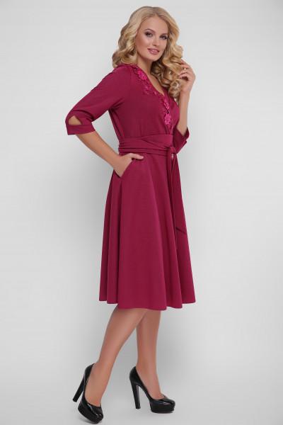 Сукня «Паула» кольору марсала