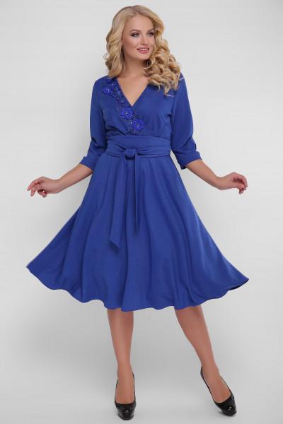 Сукня «Паула» кольору електрик