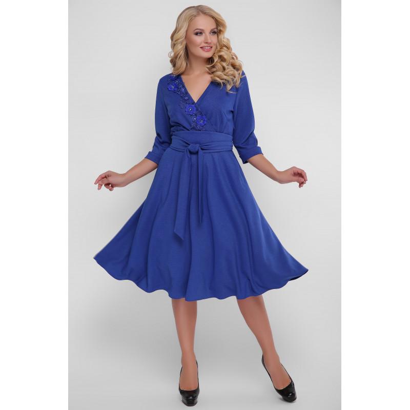 Сукня «Паула» синя розклешена – купити в Києві 125344b6ccae0