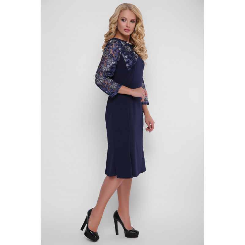 Сукня «Аннет» романтична темно-синя – купити в Києві c9e21cfb65744