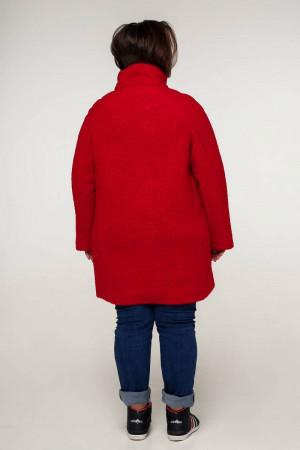 Пальто «Нинель» красного цвета