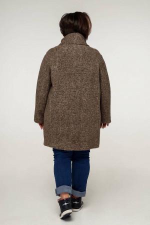 Пальто «Нінель» темно-оливкового кольору