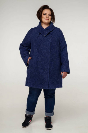 Пальто «Нинель» темно-синего цвета