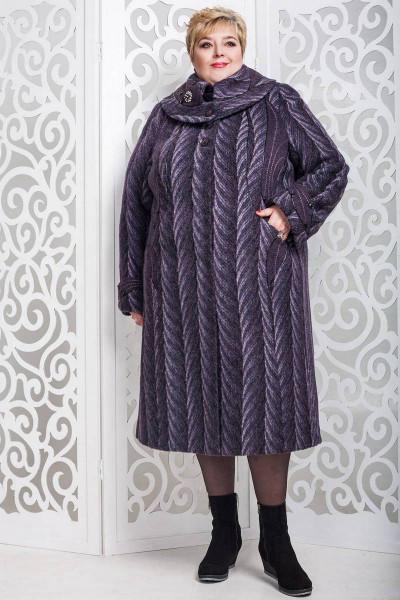 Зимове пальто «Вуді» сливового кольору
